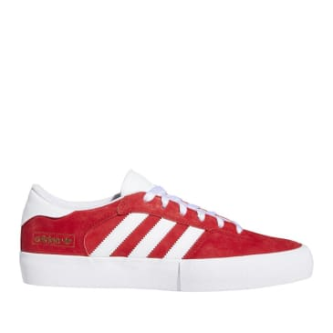 adidas Skateboarding Matchbreak Super Shoes - Scarlet / FTWR White / Gold Met