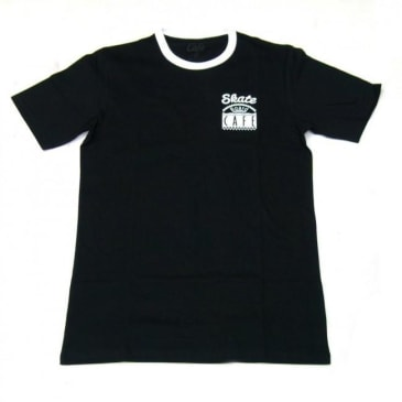 Skateboard Cafe Diner Ring T-Shirt - Black / White