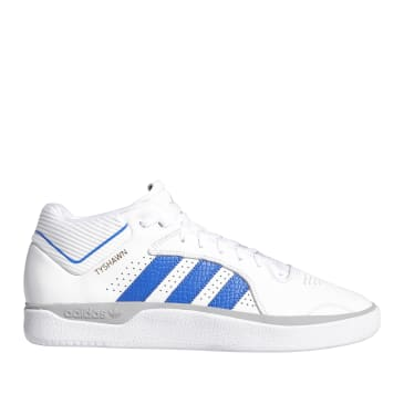 adidas Skateboarding Tyshawn Jones Shoes - Cloud White / Blue / Gold Metallic