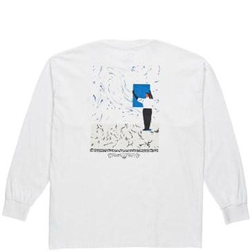 Polar Skate Co Hanging A Painting Long Sleeve T-Shirt - White