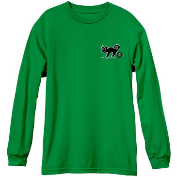 New Deal Templeton Cat L/S T-shirt - Green