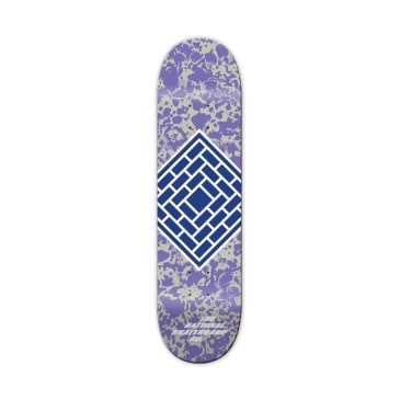 The National Skateboard Co. Classic Purple Team Skateboard Deck - 8.25""