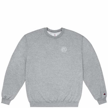 Classic Grip Embroidered Reflective Crewneck - Grey