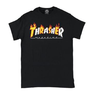 Thrasher Flame Mag T-Shirt Black