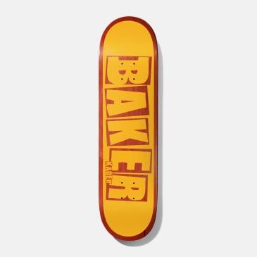 Baker Skateboards Kader Brand Name Yellow / Red Skateboard Deck - 7.875