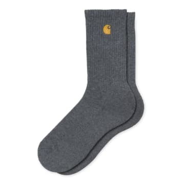 Carhartt WIP Chase Socks - Dark Grey Heather/Gold