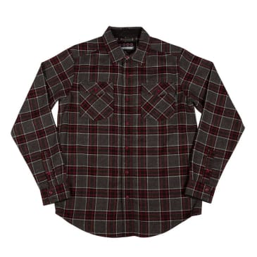 Independent - Hatchet Long Sleeve Flannel (Grey/Black/OxBlood)