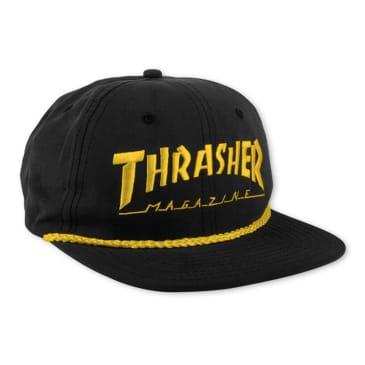 Thrasher Rope Snapback Cap Black / Yellow