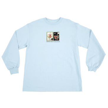 WKND - Gaudy Salon Vase Long Sleeve Tee - Light Blue