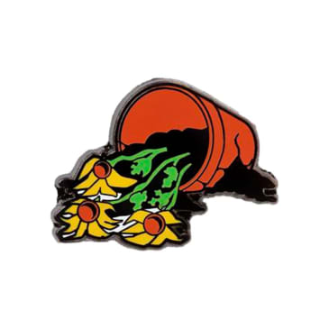 Good Dope - FLOWERS ARE DEAD LAPEL PIN