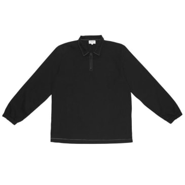 The National Skateboard Co. Quarter Zip Shirt - Black (Collection 2)