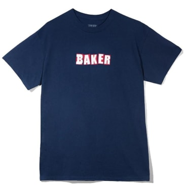 Baker Skateboards Brand Logo T-Shirt - Navy / Red