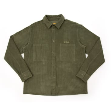 WKND Major Cord Button Up Shirt - Forest Green