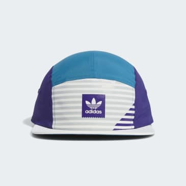 adidas Elevated Five-Panel Cap - White/Collegiate Purple/Active Teal/Grey Two