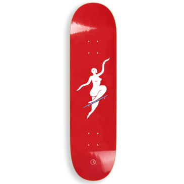 Polar Skate Co No Comply Red Skateboard Deck - 8.25""