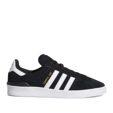 adidas Skateboarding Campus ADV Shoes - Core Black / Cloud White / Cloud White