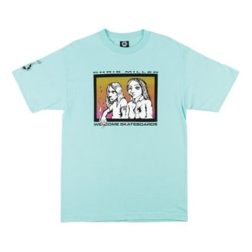 Welcome Skateboards- Miller Couples Tee Teal