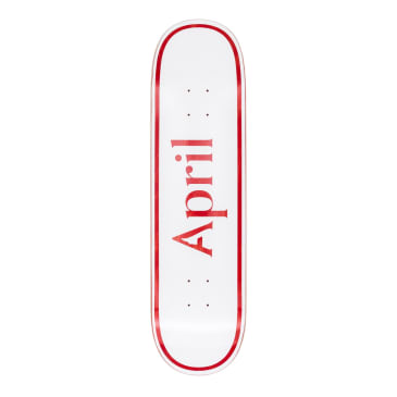 April OG Logo Red Deck - 8.38""
