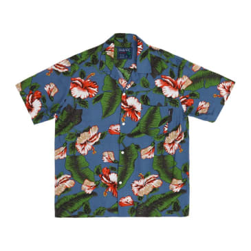 "ONLY NY - ""HIBISCUS ALOHA SHORT CAMP COLLAR BUTTON DOWN"" (MULTI)"