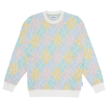 Fucking Awesome Monogram Sweater - White / Pink / Blue / Yellow / Teal