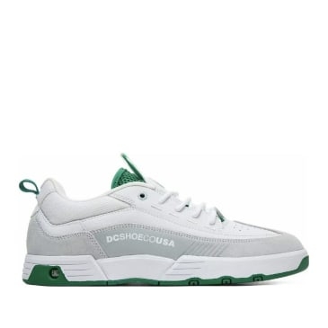 DC Legacy 98 Slim S Skate Shoes - White / White / Green