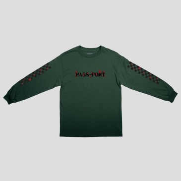 """PASS~PORT """"CONSCIENCE"""" L/S TEE FOREST GREEN"""