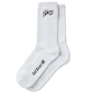 Last Resort AB Eyes Socks - White
