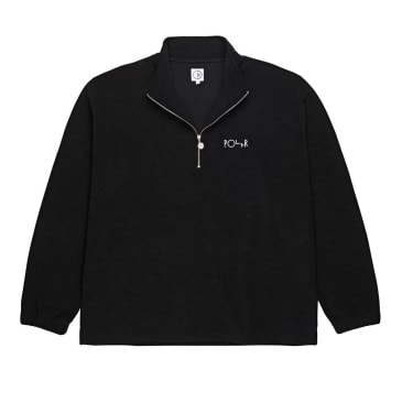 Polar Skate Co. Terry Zip Mockneck Fleece (Black)