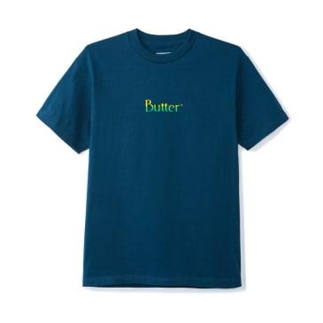 Butter Goods Split Classic Logo T-Shirt - Harbour Blue