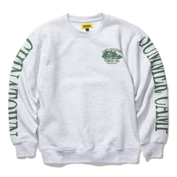 "CHINATOWN MARKET-""CAMP CREWNECK SWEATSHIRT""(GREY)"