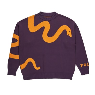 Snake Knit Sweater (Prune)
