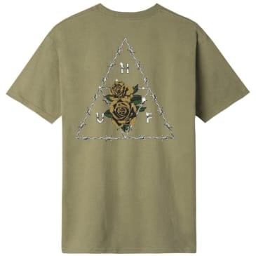HUF Dystopia Triple Triangle T-Shirt - Dried Herb