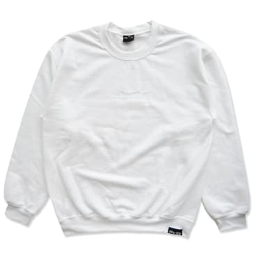 Fifty Fifty Tonal Embroidered Crew White