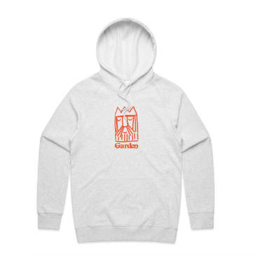 Garden - Contrast King Ed Pullover Hooded Sweatshirt - Ash Grey