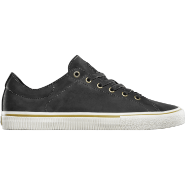Emerica Omen Lo x Sasha Barr Reserve Skate Shoes - Black Raw