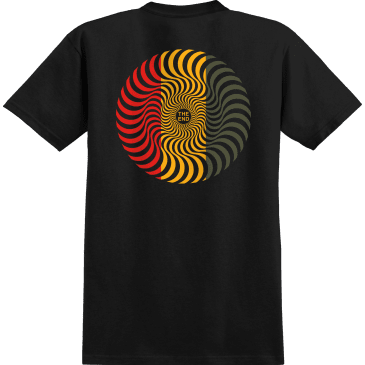 SPITFIRE Classic Swirl Tee Black/Red/Gold