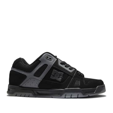 DC Stag Skateboard Shoes - Black / Black / Battleship