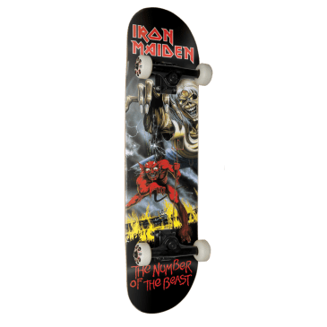 Zero Number of the Beast Iron Maiden Complete Skateboard Deck - 8""