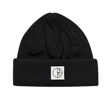 Polar Skate Co Double Fold Cotton Beanie - Black
