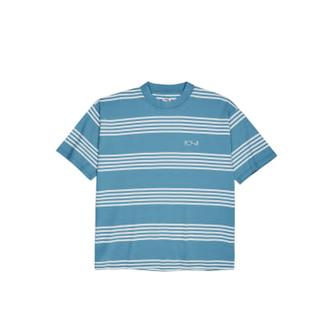 Polar Skate Co. Striped Surf T-Shirt - Blue