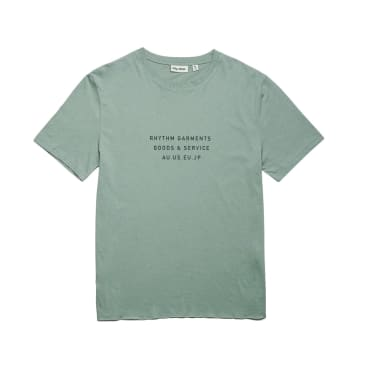 Rhythm Base T-Shirt - Petrol Green