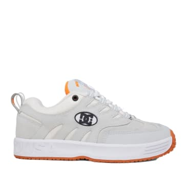 DC Lukoda Skate Shoes - White / Grey / Orange