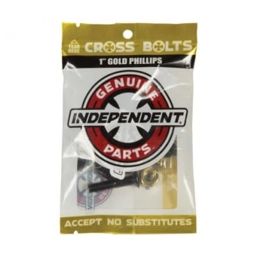 Independent - Genuine Parts Phillips Hardware 1 in. Black/Gold