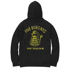 5Boro Don't Tread On Me Green Hoodie