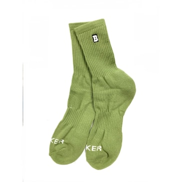 Baker Skateboards Capital B Olive Socks