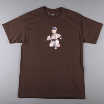 CSC 'Pussy & Skateboarding' T-Shirt (Brown)