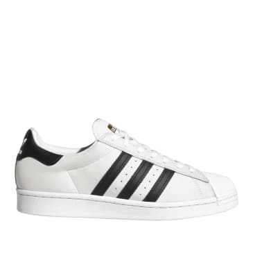 adidas Skateboarding Superstar ADV Shoes - White / Black / Gold