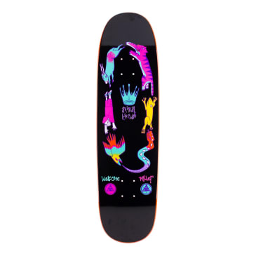 Welcome Skateboards Chris Miller Animal Kingdom on Catblood 2.0 Skateboard Deck Black / Orange Dip - 8.75""