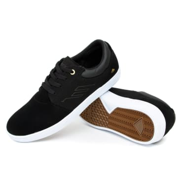 Emerica Alcove CC Shoes - Black/White/Gold