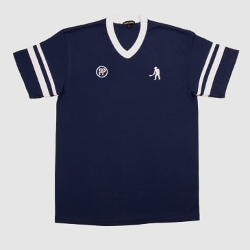 """PASS~PORT """"WORKERS STRIPES"""" JERSEY NAVY / WHITE"""